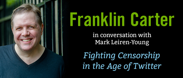 Franklin Carter in conversation with Mark Leirin Young